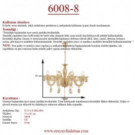 Eray Aydınlatma 6008-8 8 li Krem Klasik Avize