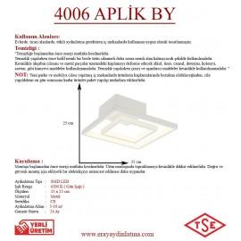 Eray Aydınlatma 4006-1 Beyaz Led Aplik