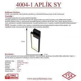 Eray Aydınlatma 4004-1 Siyah Led Aplik