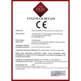 Eray Aydınlatma ER9618-4 Eskitme 4'lü Cam Kol Avize