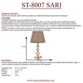 Eray Aydınlatma ST-8007 Sarı Abajur
