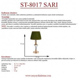 Eray Aydınlatma ST-8017 Sarı Abajur