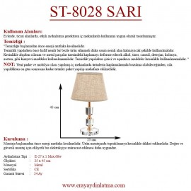 Eray Aydınlatma ST-8028 Sarı Abajur